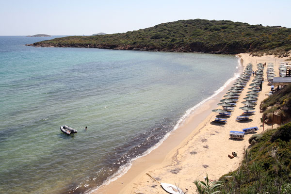 gold beach andros greece